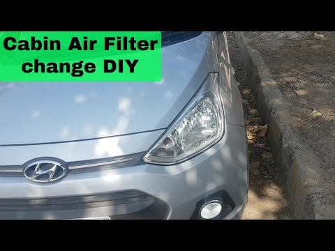 DIY   How to change cabin air filter in Hyundai Grand i10