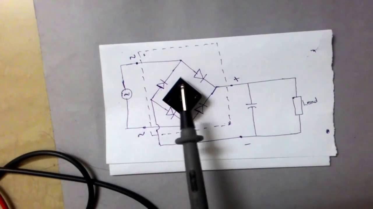 Bridge Rectifier IC Basics, Pin Identification, Circuit