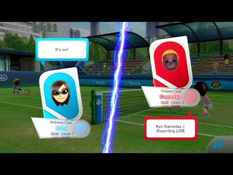 Gameday J vs Ruby | Wii Sports Club Online Tennis
