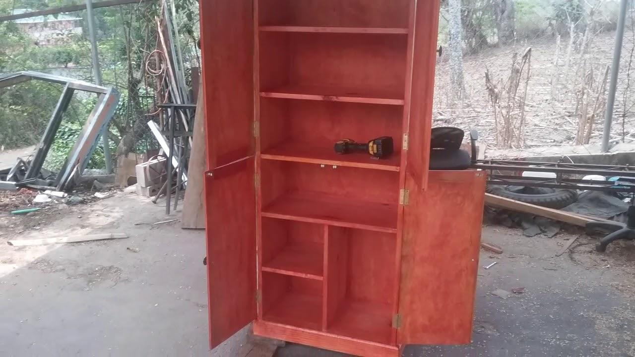 Como hacer mueble para guardar herramientas pintura parte - Muebles para almacenar ...