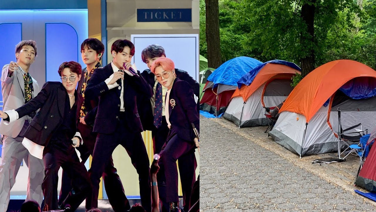 Obsessed BTS Army Camp Out In Pouring Rain Week Before Concert