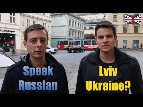 Can you speak in Russian in Lviv, Ukraine?