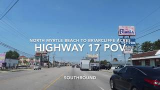 North Myrtle Beach to Briarcliffe Acres POV - Highway 17 (Kings Hwy) | Roadside