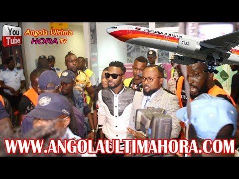 ANGOLA : WATANABE AYE KOLONGOLA BA TEMBE BOTALA AEROPORT PLEINS LA POLICE AKOKI BA FANS TE