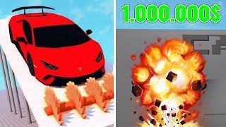 SMASHING EXPENSIVE car!! -Car Crusher #02 (Danish Roblox)