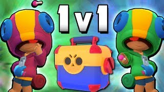 NEW LEON vs LEON 1v1 MEGA BRAWL BOX MATCH IN BRAWL STARS! BEN vs REY!