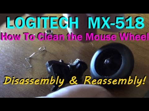 Cleaning The Wheel Of The Logitech MX-518 Mouse, Disassembly & Reassembly