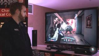 Mass Effect 3 Gameplay Walkthrough using Kinect (CES 2012)