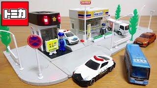 トミカ イオンオリジナル トミカタウン 交番 パトカーセット HONDA CR-V & プラキッズ おまわりさん付属 tomica town Police box thumbnail