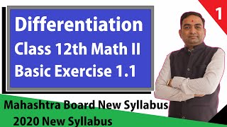 Differentiation Basic Exercise 1.1 Class 12th Mathematics 2