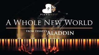A Whole New World (End Title) Aladdin - Piano Karaoke / Sing Along Cover Lyrics