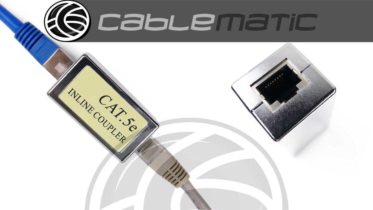 Empalme Cable FTP categoría 5e RJ45 hembra a RJ45 hembra ...