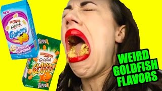 TASTING WEIRD GOLDFISH CRACKERS