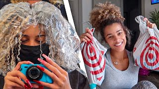 Vlog: A Productive Day In My Life! *i got my hair dyed blonde* | Azlia Williams