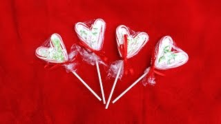 DIY Candy Cane Heart Lollipops Thumbnail