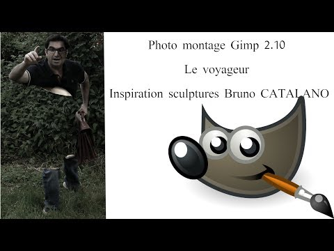 Gimp : le voyageur selon Bruno Catalano sous Gimp 2.10 ou 2.8