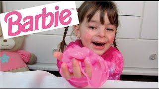 Como Fazer Amoeba Caseira da Barbie - SLIME/GELECA