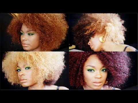 NEW BOLD COLORS! BESHE DREW | BIG NATURAL HAIR