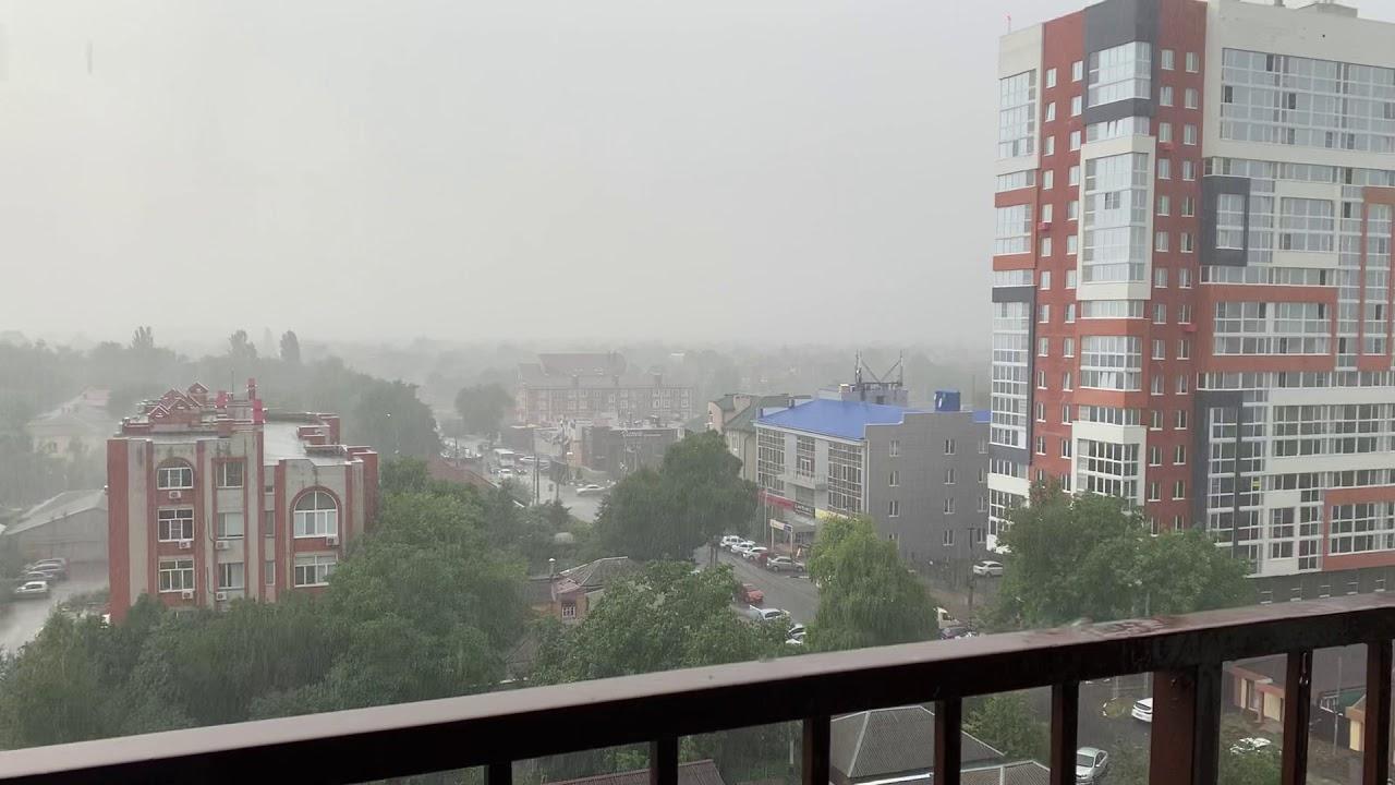 Погода Ростов-на-Дону 8 июля 2020 г УЖАСНЫЙ ЛИВЕНЬ! Не ожидали!Всё заливает!Прохлада после жары +40