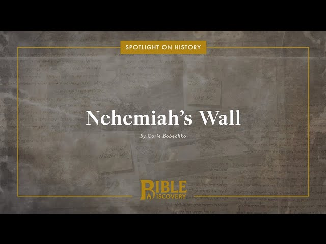 Archaeological evidence for the ancient wall of Jerusalem | Spotlight on History | Nehemiah's Wall