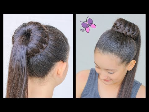 Hairstyle With Waterfall Braided Bun