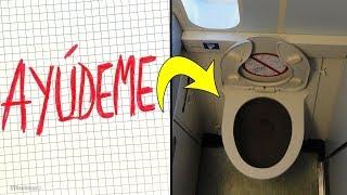 """Aeromoza ve """"AYÚDEME"""" escrito en el baño del avión, urgentemente pide al piloto llamar a la policía. thumbnail"""