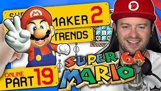 Super Mario 64 Peachs Schloss, Kameks Transformation & Think Fast 👷 SUPER MARIO MAKER 2 ONLINE #19