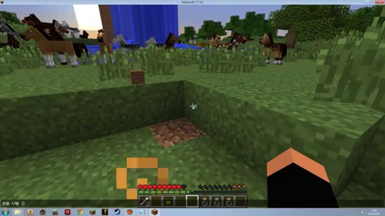 Como Poner El Bloque De Hieba Completo En Minecraft Youtube