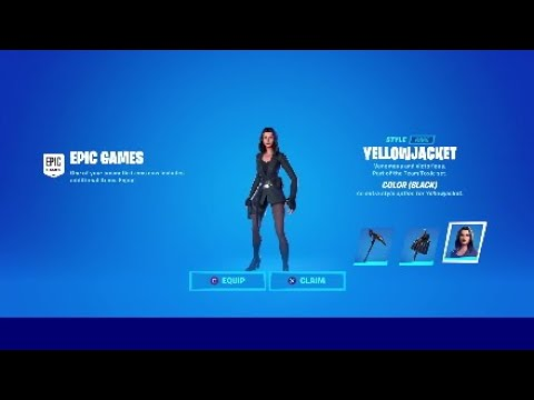 New Black Yellowjacket Skin Style On Fortnite Youtube