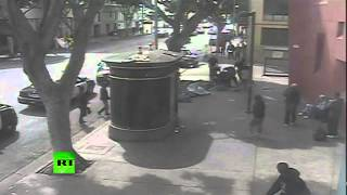CCTV captures LAPD killing homeless man in Skid Row shooting