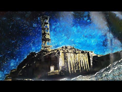 Чернобыль ЧАЭС рисование баллончиками и кистью CHERNOBYL