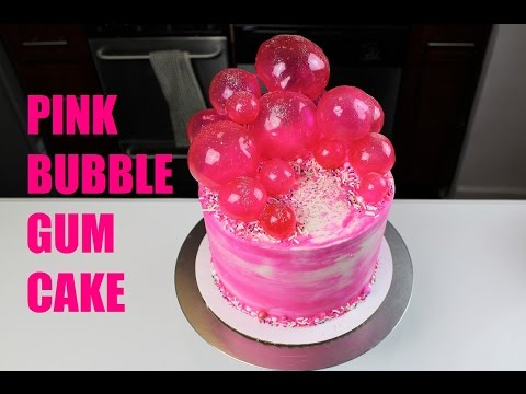 How to Make a Pink Bubble Gum Inspired Cake CHELSWEETS YouTube