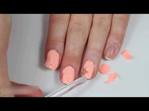 hur tar man bort nagelförlängning