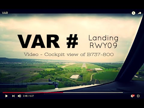 Landing @ VARNA - Int'l Airport (VAR/LBWN) Bulgaria # Cockpit View - RWY09