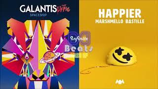 Gambar cover Galantis ft. Uffie - Spaceship vs. Marshmello ft. Bastille - Happier (Infinite Beats Mashup)