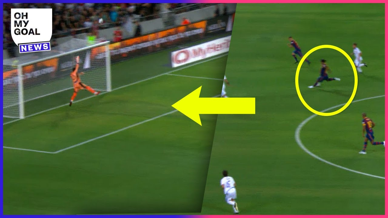 Ronaldinho almost scored an absolute WORLDIE in a legends game   Oh My Goal