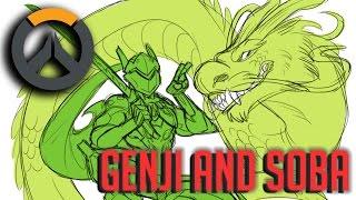 (Comic Dub) Overwatch: GenjiNSoba Ft LiaVA