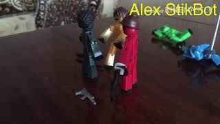 Самая масштабная драка: стикботы vs стикботы монстры и динозавр! #стикбот #драка #stikbot #fight