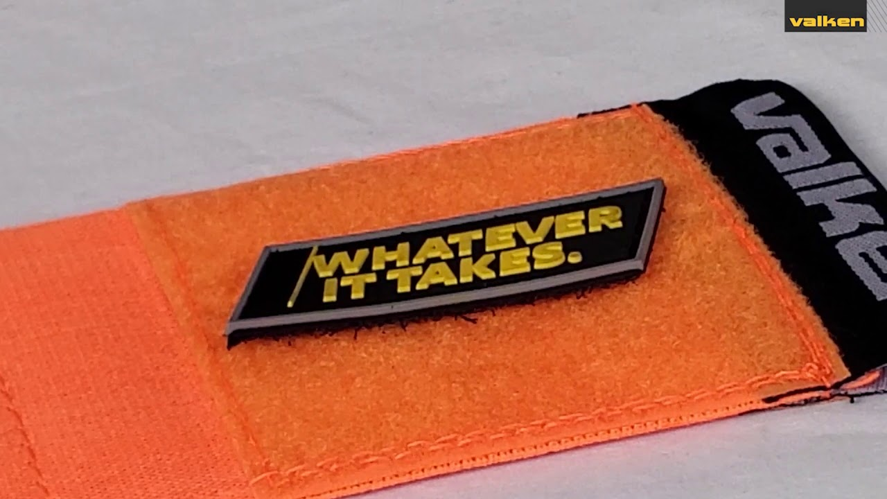 """Valken Team Color Armband With 3/""""x3/"""" Hook And Loop Panel For Patches Yellow"""