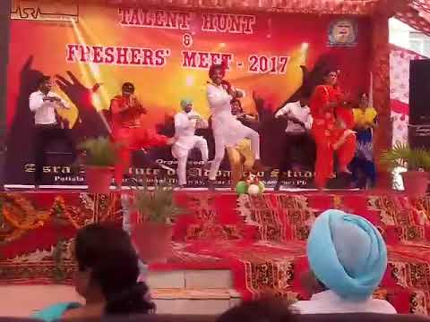 Latest bhangra in Asra college Patiala(1) by great dhiman