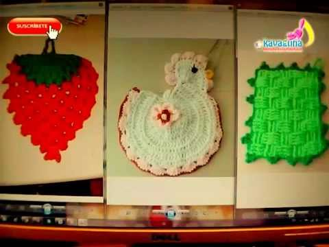 Diy 3 adornos para la cocina tejidos a crochet youtube for Adornos colgar pared