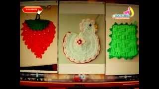 DIY 3 adornos para la cocina tejidos a crochet