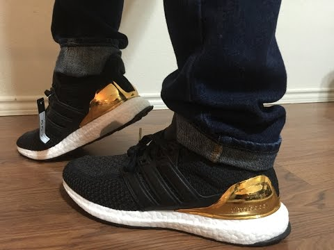 cd1015865ea Adidas Olympic Gold Medal Olympic Ultraboost unboxing and on feet review