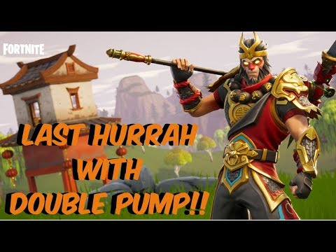 Fortnite Battle Royale - MONKEY KING GOES SOLO! - LAST HURRAH BEFORE DOUBLE PUMP NERF!!