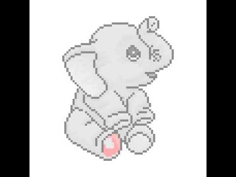 Elephant Pixel Art Youtube