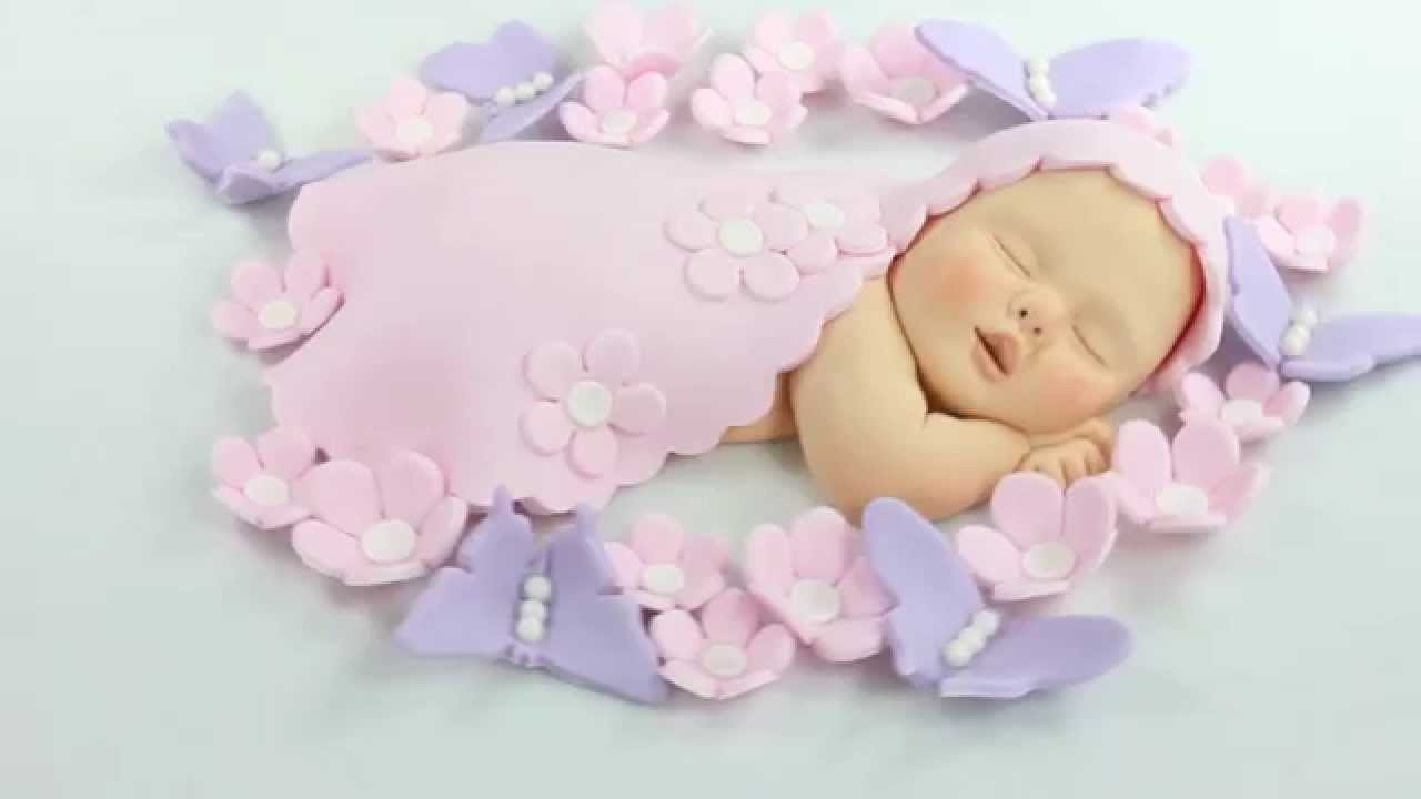 Butterfly Cake Toppers Baby Shower : Lil Sculpture Baby Cake Topper Pink Flowers & Purple ...