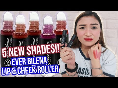 NEW SHADES!! EVER BILENA LIP & CHEEK ROLLER TINT FIRST IMPRESSION REVIEW!