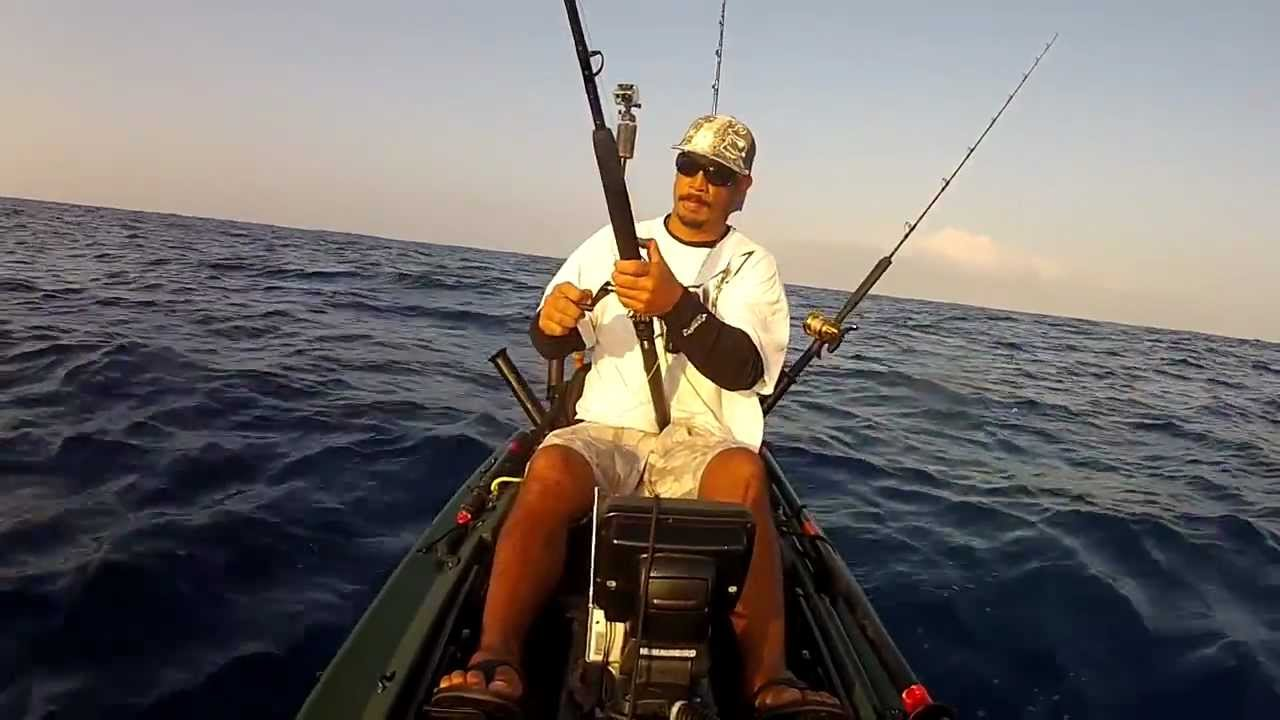Extreme kayak fishing hawaii reel tripz 2 youtube for Kayak fishing hawaii
