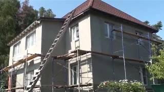 Утепление фасадов дома, построенного на двух фундаментах, температурно-усадочные швы
