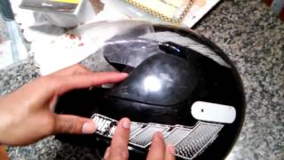 Como trocar a viseira do capacete